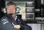 Mercedes Formula One team principal Ross Brawn looks on during the first practice session of the German F1 Grand Prix at the Nuerburgring racing circuit, July 5, 2013. REUTERS/Kai Pfaffenbach/Files