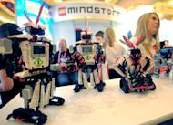 Smart device-controlled toy robots are displayed at the International CES at the Las Vegas Convention Center on January 9, 2013. Tactile screens make it a lot easier for kids to go mobile, but some experts worry about prolonged exposure to these devices