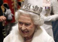 Britain's Queen Elizabeth II is pictured wearing the Diadem crown at the opening of Parliament in May. More than 10,000 diamonds set in works worn by British monarchs for over 250 years will go on show at London's Buckingham Palace this summer to celebrate the Queen's diamond jubilee. The exhibition includes a range of the queen's personal jewels, including the Diadem crown