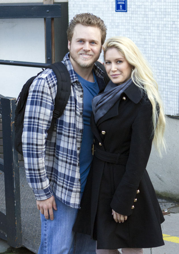 Heidi and Spencer today at the ITV Studios