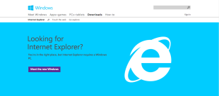 Fundraisers: Stop Using Internet Explorer image IE homepage.png