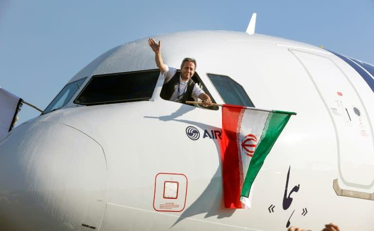 Un avión Airbus A321 de la compañía Iran Air el 12 de enero de 2017 en el aeropuerto Mehrabad de Teherán