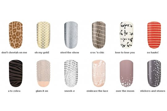 Essie's new collection of Sleek Stick nail stickers