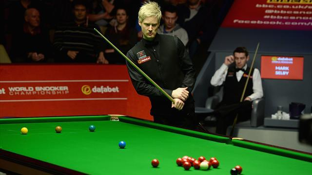 Snooker - Selby edges Robertson to set up O'Sullivan final