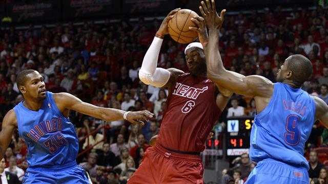 NBA - James leads Heat past Thunder in finals rematch