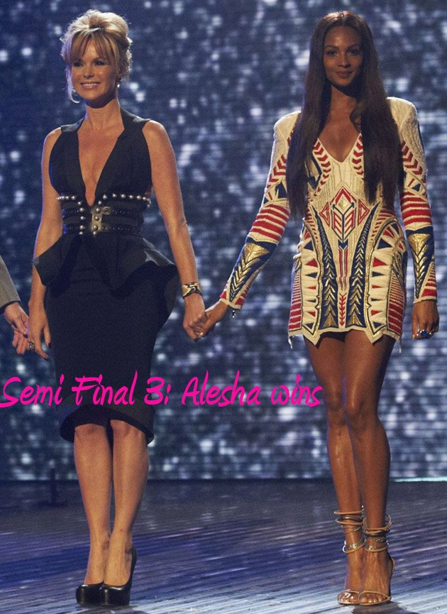 Alesha Dixon Amanda Holden Britian's Got Talent Semi Final 3