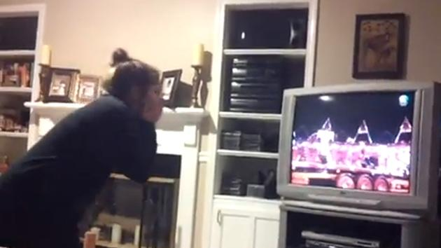 One Direction fan losing her cool during Olympics video