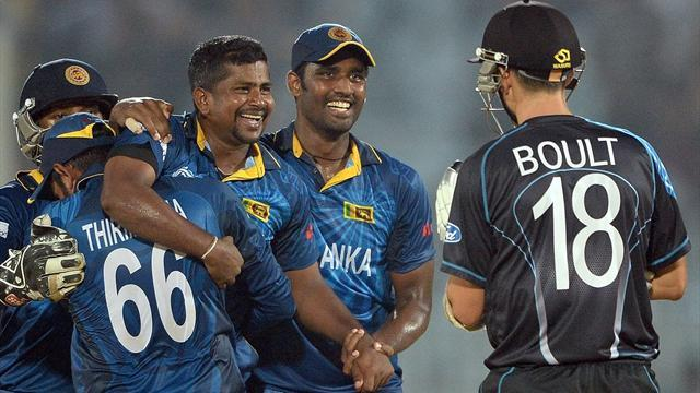 Cricket - Herath skittles New Zealand as Sri Lanka reach semis