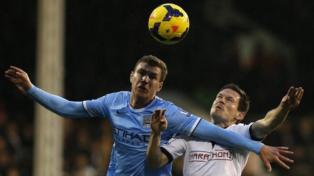 Premier League - Man City withstand Fulham fight-back for away win