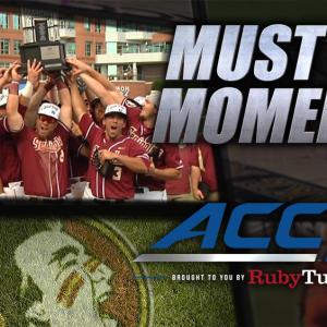 FSU Celebrates 6th ACC Baseball Championship | ACC Must See Moment