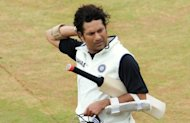 Sachin Tendulkar at a team practice session at the M. Chinnaswamy Stadium in Bangalore on August 30. Tendulkar is facing unprecedented calls to retire after a string of failures fuelled speculation that time had finally caught up with India's cricket icon