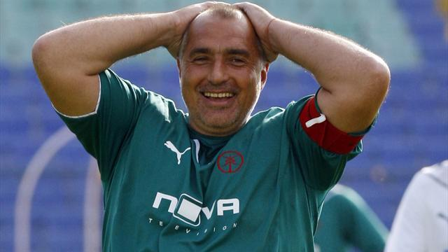 European Football - Former PM becomes Bulgaria's oldest player at 54