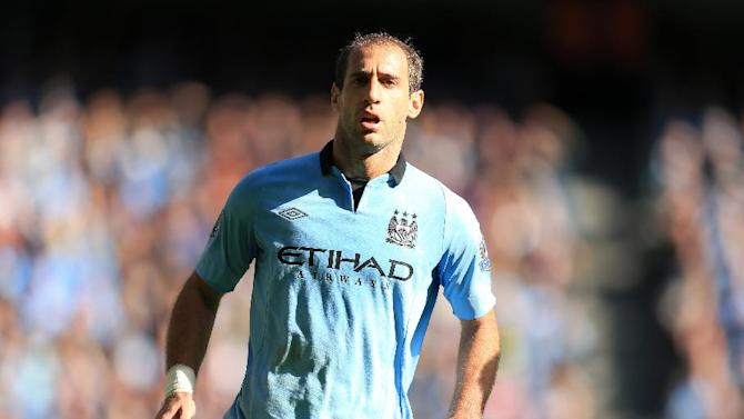 Pablo Zabaleta has recovered from his hamstring injury and should feature at the weekend