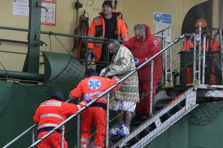 Rescued ferry passengers arrive in Italy, 149 still stranded
