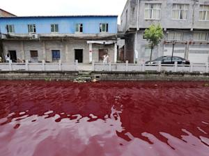 River In China Mysteriously Turns Bloody Red Overnight