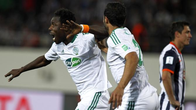 Guehi of Morocco's Raja Casablanca celebrates his goal against Mexico's Monterrey at extra time during their FIFA Club World Cup soccer match in Agadir