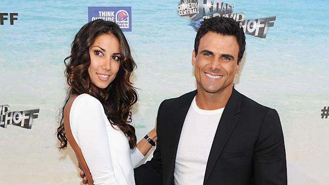 """Jeremy Jackson (R) and model Leilani Dowding arrive at the """"Comedy Central Roast Of David Hasselhoff"""" held at Sony Pictures Studios on August 1, 2010 in Culver City, California."""