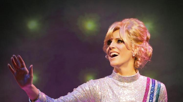 "This theater image released by The O + M Company shows Kirsten Holly Smith as Dusty Springfield in ""Forever Dusty."" (AP Photo/The O + M Company, Joan Marcus)"
