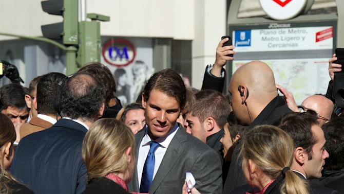 Rafa Nadal Receives 'Marca Award' 75th Anniversary in Madrid