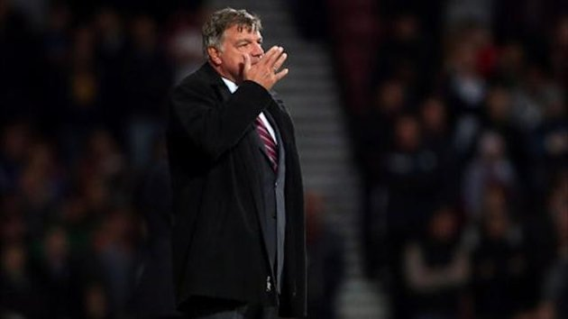 West Ham United's manager Sam Allardyce on the touchline (PA)