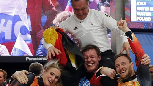 Luge - Germany win team relay to complete gold sweep