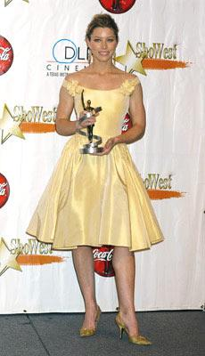 Jessica Biel - Female Star of Tomorrow Award ShoWest 2005 Awards Night - Las Vegas, NV - 3/17/05