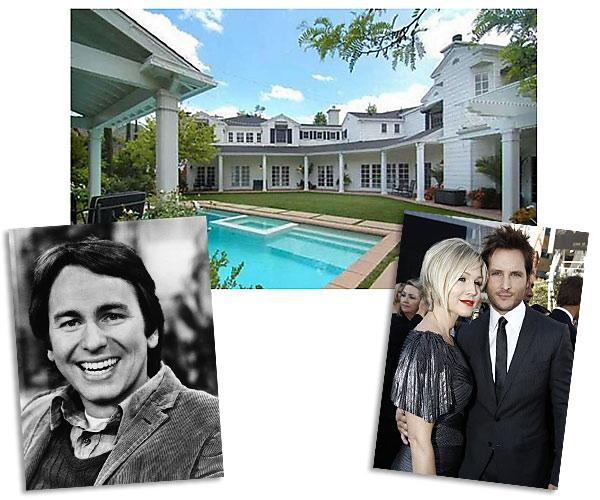 Then: John Ritter and his parents. Now: Jennie Garth and Peter Facinelli