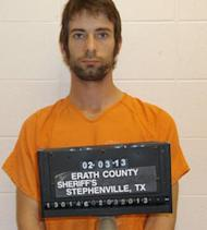 Photo from Erath County Sheriff's Department in Stephenville, Texas shows shooting suspect Eddie Ray Routh. The Iraq war veteran was facing murder charges on February 4, 2013 for allegedly gunning down two men, one of whom was a former Navy SEAL sniper whose exploits in the same conflict were detailed in a best-selling book