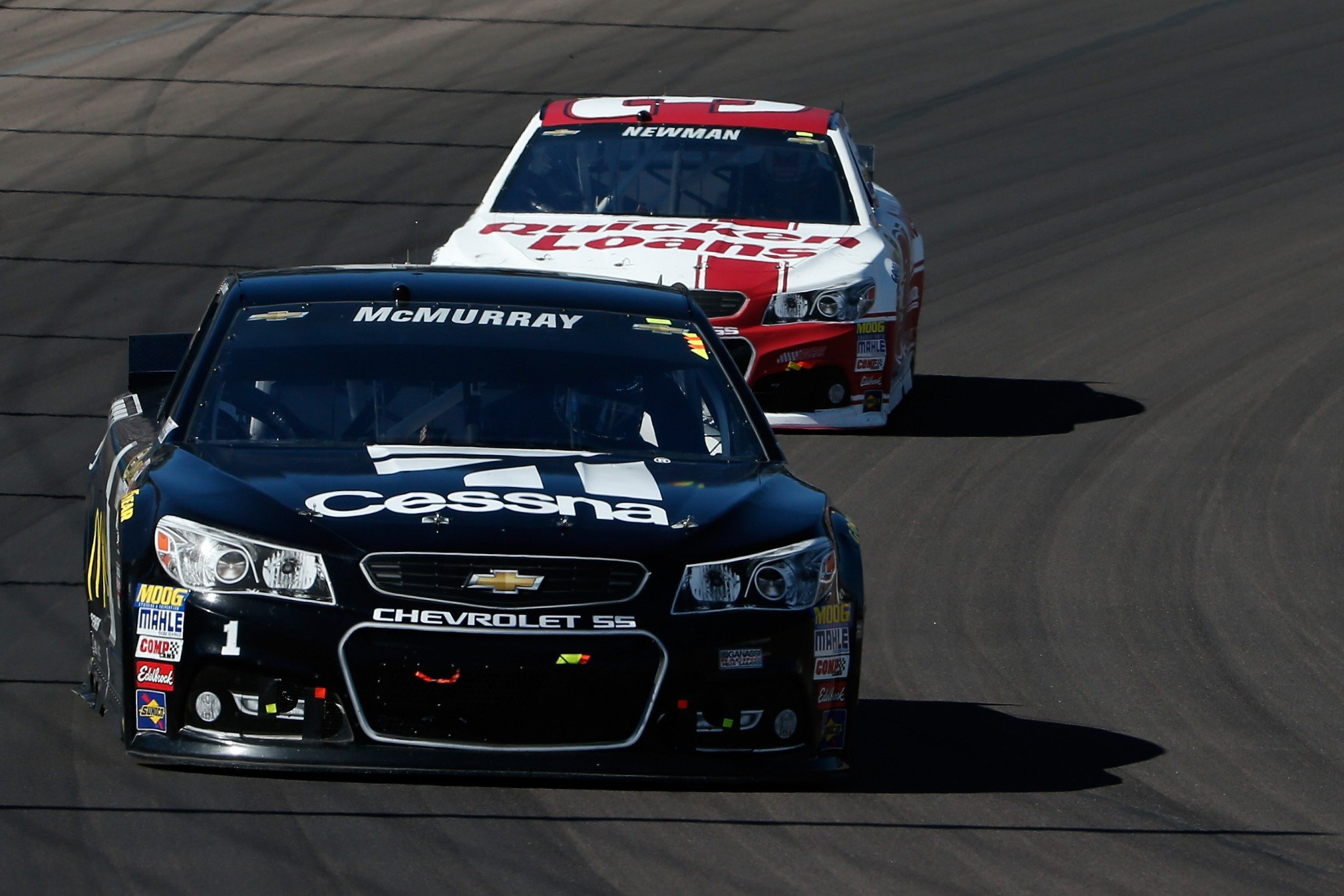 McMurray leads Newman, both here at Phoenix and in the points standings (Getty).