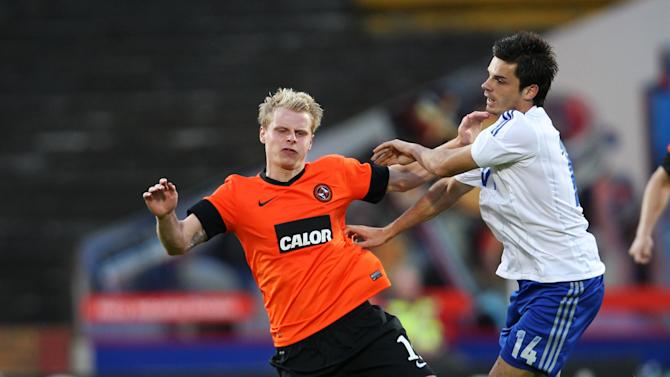 Gary Mackay-Steven (left) in action against Dinamo Moscow