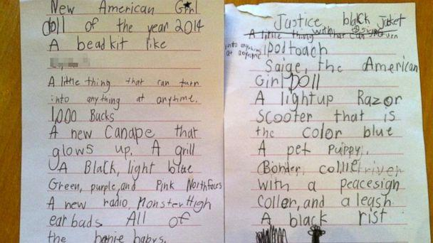 7-Year-Old Girl's Over-The-Top Christmas Wish List Because, Why Not?