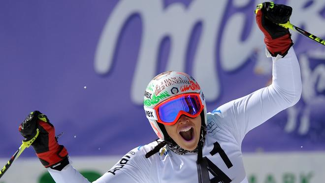 Federica Brignone Of Italy Reacts AFP/Getty Images