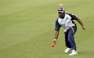 Sri Lanka's Mahela Jayawardene plays a game during a World Cup cricket training session in Port of Spain March 20, 2007. REUTERS/Adnan Abidi/Files