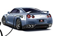 Nissan electric GT-R Rendition