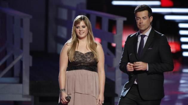 Holly Tucker and Carson Daly on 'The Voice' -- NBC