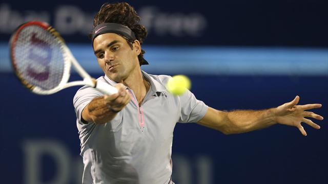 Tennis - Djokovic, Federer advance through to Dubai quarters
