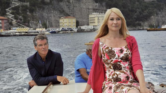 """This publicity photo released by courtesy of Sony Pictures Classics shows Pierce Brosnan as Philip and Trine Dyrholm as Ida in the film, """"Love Is All You Need."""" (AP Photo/Sony Pictures Classics, Doane Gregory)"""