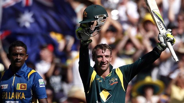 Cricket - Hughes century sees Australia past Sri Lanka