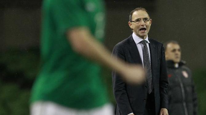 Republic of Ireland Manager Martin O'Neill shouts at his team during their soccer international match against Serbia at the Aviva stadium, Dublin, Ireland, Wednesday, March 5, 2014