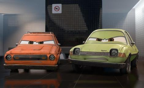 Grem and Acer in Pixar's Cars 2.