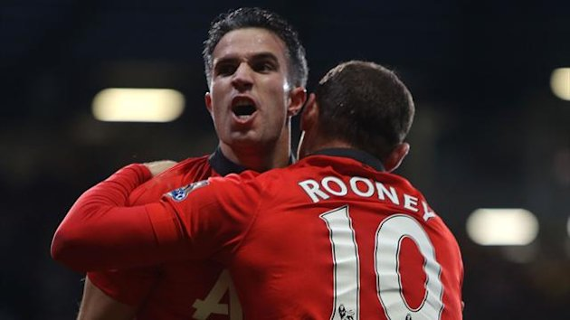 Robin van Persie and Wayne Rooney (Getty)