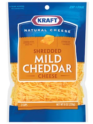 Kraft Natural Shredded Mild Cheddar Cheese