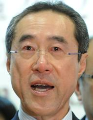This file photo shows then Hong Kong chief executive candidate Henry Tang sheding tears during a press conference on March 25, 2012. Tang was set to become the chief executive until a series of gaffes and the discovery of an illegal basement containing the cellar at his luxury home made him deeply unpopular