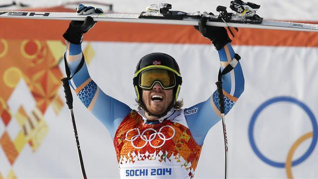 Alpine Skiing - Norway's Jansrud wins super-G as Miller sets medal record