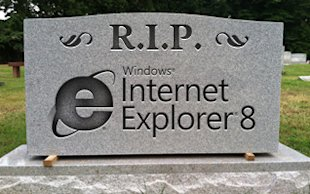 Microsoft Plans to Abandon Old Versions of Internet Explorer image rip IE 8