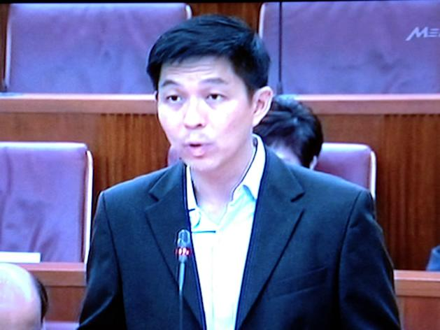Acting minister for manpower Tan Chuan-Jin speaking in Parliament on Tuesday about the changes to the Foreign Manpower Act. (Television screengrab)