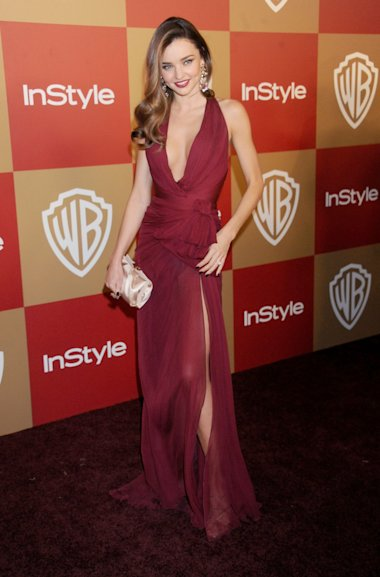 Miranda Kerr en la fiesta de los Golden Globe de InStyle And Warner Bros. / Foto: Getty Images