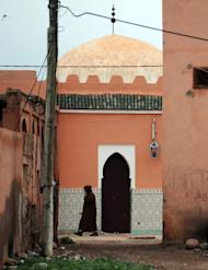 A door to the shrine of Bouya Omar is seen in the village of the same name, some 86 km east of Marrakesh, on March 20, 2014