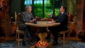 Ian McKellen: 'Silly' Stephen Colbert Cracked Under 'Hobbit' Excitement