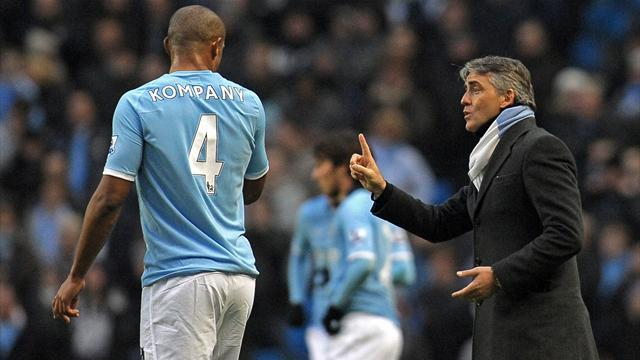 Premier League - Vinny groans from angry Mancini